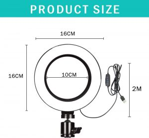 """6"""" LED Ring Light/ Selfie Light - Glow Ring Light Co. Australia - Free Shipping + AfterPay"""