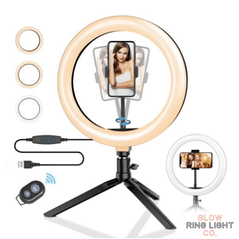 "10"" Desktop LED Glow Ring Light/Selfie Light - Glow Ring Light Co. Australia - Free Shipping + AfterPay"