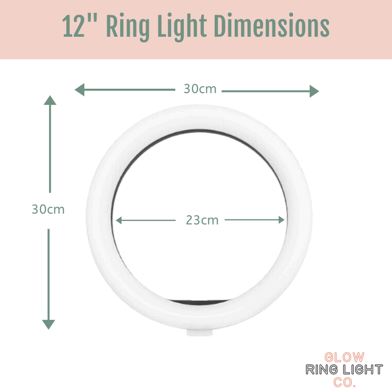 """12"""" LED Glow Ring Light/Selfie Light Glow Ring Light Co. Australia Free Shipping AfterPay"""