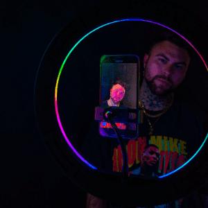 RGB rainbow glow ring light selfie tiktok