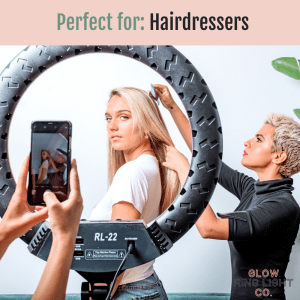 Extra Large 22 Inch LED Glow Ring Light/Selfie Light with Tripod - Glow Ring Light Co. Australia - Free Shipping + AfterPay