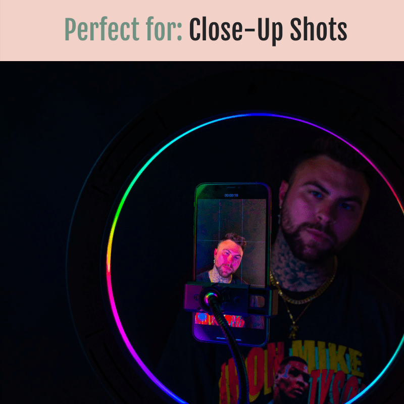 RGB Rainbow LED Glow Ring Light/Selfie Light with Tripod - Glow Ring Light Co. Australia - Free Shipping + AfterPay