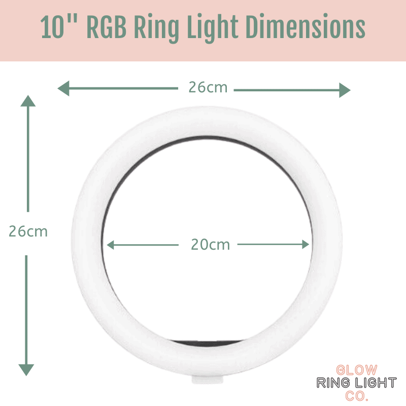 10 Inch RGB Rainbow LED Glow Ring Light/Selfie Light with Tripod - Glow Ring Light Co. Australia - Free Shipping + AfterPay