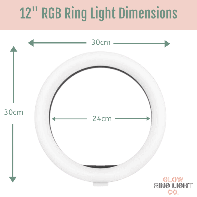 12 Inch RGB Rainbow LED Glow Ring Light/Selfie Light with Tripod - Glow Ring Light Co. Australia - Free Shipping + AfterPay
