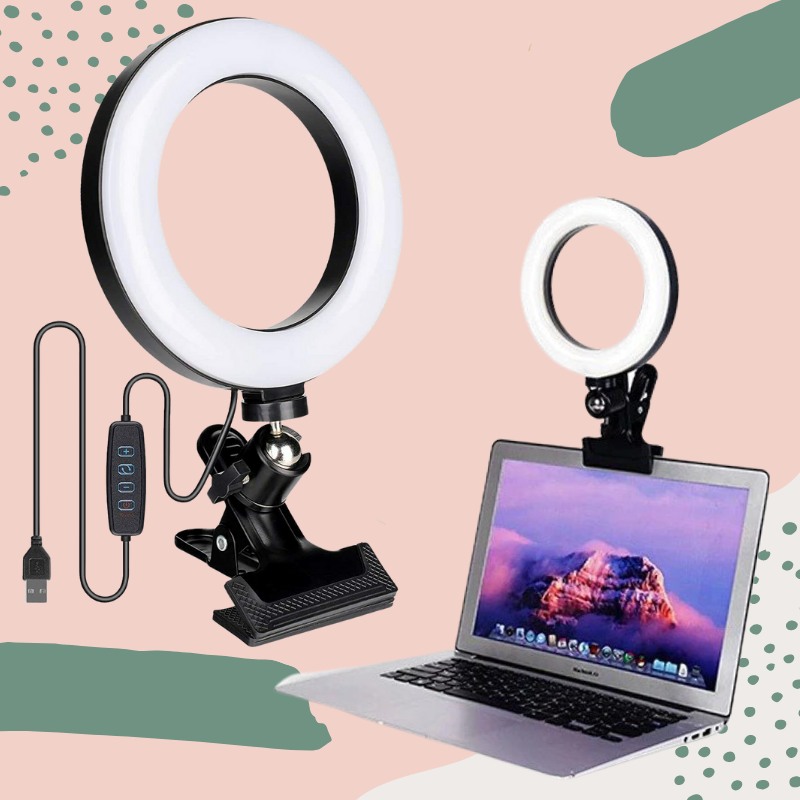 Clip-On LED Glow Ring Light For Computer or Laptop - Glow Ring Light Co. Australia - Free Shipping + AfterPay